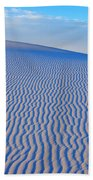 White Sand Patterns New Mexico Beach Towel by Bob Christopher