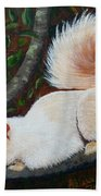 White Squirrel Of Sooke Beach Towel