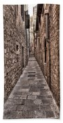 White Streets Of Dubrovnik No3 Beach Towel