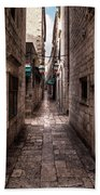 White Streets Of Dubrovnik No5 Beach Towel