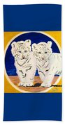 White Tiger Twins Beach Towel