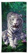 White Tigers Beach Towel
