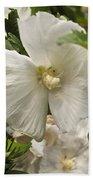 White Tree Flower Beach Towel