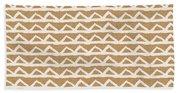White Triangles On Burlap Beach Sheet