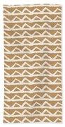 White Triangles On Burlap Beach Towel