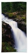 White Water Falling  Beach Towel