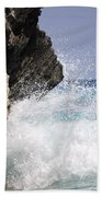 White Water Paradise Beach Towel by Luke Moore