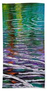 White Waves And Ripple Beach Towel