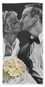 White Wedding Beach Towel