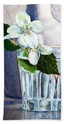 White White Jasmine  Beach Towel