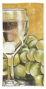 White Wine And Cheese Beach Towel by Debbie DeWitt