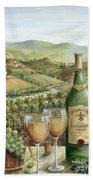 White Wine Lovers Beach Towel by Marilyn Dunlap