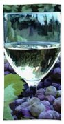 White Wine Reflections Beach Towel