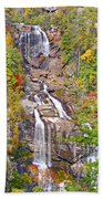 Whitewater Falls Vertical Beach Towel