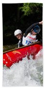 Whitewater Open Canoe Race Beach Towel