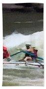 Whitewater Rafting Beach Towel