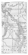 Whitman's Route Beach Sheet