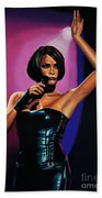 Whitney Houston On Stage Beach Towel