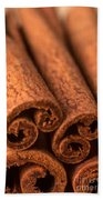 Whole Cinnamon Sticks  Beach Towel