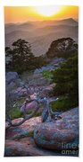 Wichita Mountains Sunset Beach Towel