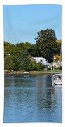 Wickford Village Waterfront Beach Towel