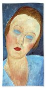 Wife Of The Painter Survage Beach Towel by Amedeo Modigliani