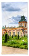 Wilanow Palace In Warsaw Poland Beach Towel