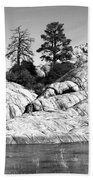 Willow Lake Number One Bw Beach Towel by Heather Kirk