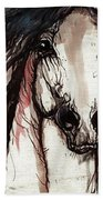 Wild Arabian Horse Beach Towel