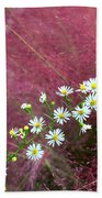 Wild Asters And Muhly Grass Beach Towel