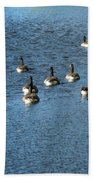Wild Birds And Pond Beach Towel