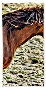 Wild Bronc Beach Towel