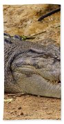 Wild Croc #2 Beach Towel