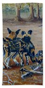 Wild Dogs After The Chase Beach Towel