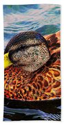 Wild Duck  Beach Towel