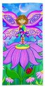 Wild Flower Fairy  Beach Towel