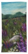 Wild Flower Field Beach Sheet