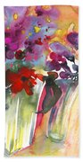 Wild Flowers Bouquets 02 Beach Towel