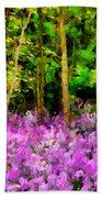 Wild Forest Violets Beach Towel