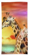 Wild Generations - Giraffes  Beach Towel