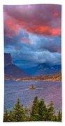 Wild Goose Island Overlook September Sunrise Beach Towel