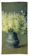 Wild Lilacs And Forget Me Nots Beach Towel by Isaak Ilyich Levitan