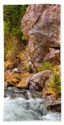 Wild Mountain River Beach Towel