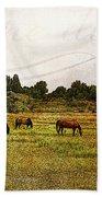 Wild Mustangs Carpe Diem Beach Towel