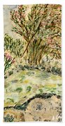 Wild Rhododendrons Near The River Beach Towel
