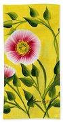 Wild Roses On Yellow Beach Towel