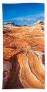 Wild Sandstone Landscape Beach Towel by Inge Johnsson
