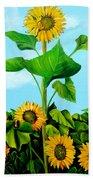 Wild Sunflowers Beach Towel