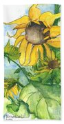 Wild Sunflowers Beach Sheet