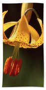 Wild Tiger Lily Beach Towel